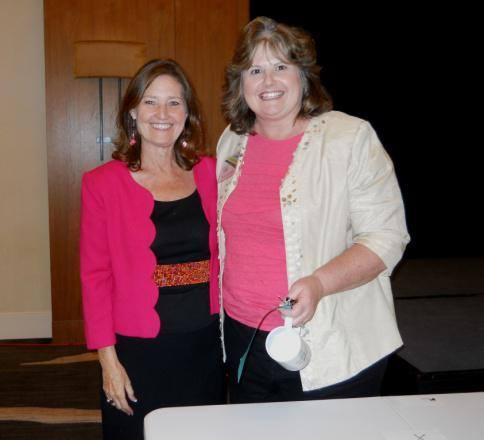MK Mueller and Chapter President Jenny Stephens
